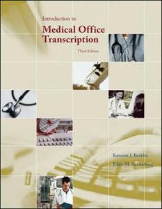 Introduction to Medical Office Transcription Package w/ Audio Transcription CD - Karonne Becklin,Edith Sunnarborg - cover