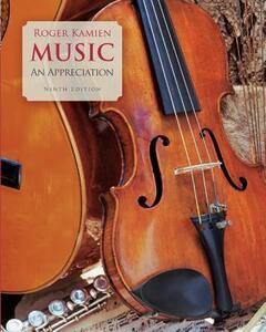 Music: An Appreciation - Roger Kamien - cover