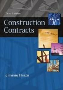 Construction Contracts - Jimmie Hinze - cover