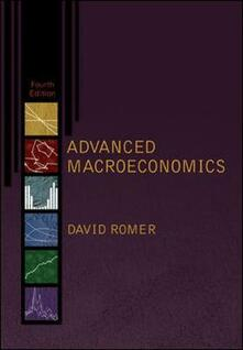 Advanced macroeconomics - David Romer - copertina