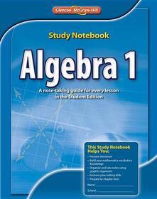 Algebra 1, Study Notebook - McGraw-Hill - cover