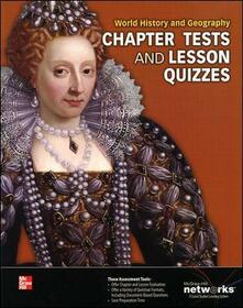 World History and Geography, Chapter Tests and Lesson Quizzes - McGraw-Hill - cover
