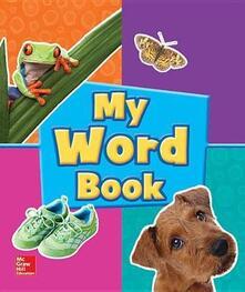 World of Wonders Grade Pre-K My Word Book - cover