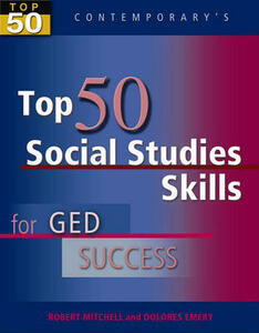 Top 50 Social Studies Skills for GED Success, Student Text Only - Robert Mitchell - cover