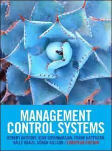 Management control systems. European edition - copertina