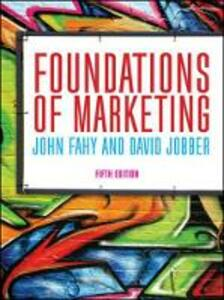 Foundations of Marketing - John Fahy,David Jobber - cover