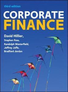 Corporate finance - David Hillier,Stephen A. Ross,Randolph W. Westerfield - copertina