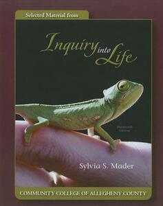 Selected Material from Inquiry Into Life - Sylvia S Mader - cover