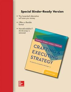 Libro inglese Loose-Leaf Crafting and Executing Strategy: The Quest for Competitive Advantage: Concepts and Cases Arthur Thompson , John Gamble , A J Strickland III
