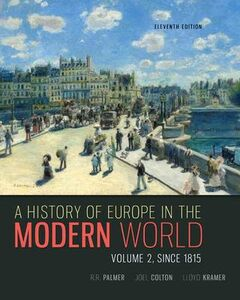 Libro inglese A History of Europe in the Modern World, Volume 2 R R Palmer , Joel Colton , Lloyd Kramer