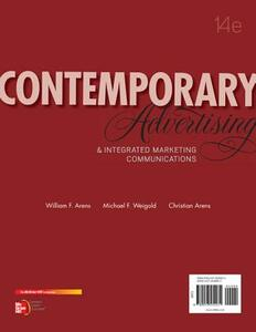 Contemporary Advertising with Connectplus Access Card - William Arens,Michael Weigold,Christian Arens - cover