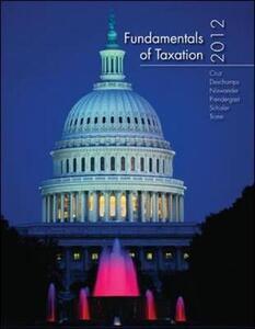 Fundamentals of Taxation - Ana M. Cruz,Michael Deschamps,Frederick Niswander - cover