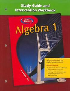 Algebra 1 Study Guide and Intervention Workbook - McGraw-Hill - cover
