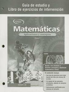 Mathematics: Applications and Concepts, Course 1, Spanish Study Guide and Intervention Workbook - McGraw-Hill - cover