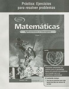 Mathematics: Applications and Concepts, Course 1, Spanish Practice: Word Problems Workbook - McGraw-Hill - cover