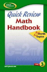 Quick Review Math Handbook: Hot Words, Hot Topics, Book 3 - McGraw-Hill Education - cover