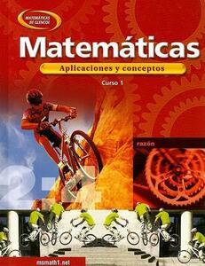 Mathematics: Applications and Concepts, Course 1, Spanish - McGraw-Hill - cover