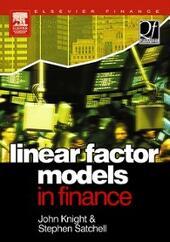 Linear Factor Models in Finance