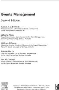 Ebook in inglese Events Management Allen, Johnny , Bowdin, Glenn , Harris, Rob , McDonnell, Ian