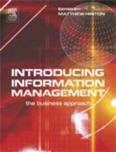 Ebook in inglese Introducing Information Management Hinton, Matthew