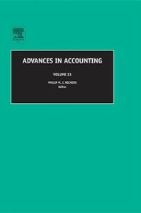 Ebook in inglese Advances in Accounting -, -