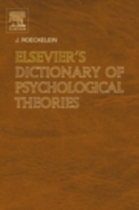 Ebook in inglese Elsevier's Dictionary of Psychological Theories -, -