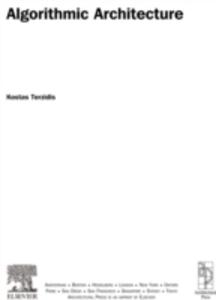 Ebook in inglese Algorithmic Architecture Terzidis, Kostas
