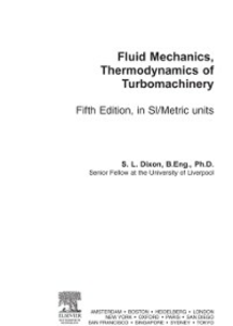 Ebook in inglese Fluid Mechanics and Thermodynamics of Turbomachinery Dixon, S Larry