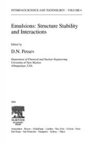 Foto Cover di Emulsions: Structure, Stability and Interactions, Ebook inglese di  edito da Elsevier Science