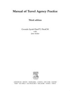 Ebook in inglese Manual of Travel Agency Practice Archer, Jane , Syratt, Gwenda