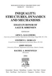 Ebook in inglese Inequality: Structures, Dynamics and Mechanisms -, -