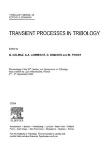 Ebook in inglese Transient Processes in Tribology -, -