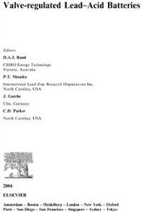 Ebook in inglese Valve-Regulated Lead-Acid Batteries -, -