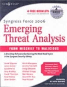 Foto Cover di Syngress Force Emerging Threat Analysis, Ebook inglese di Robert Graham, edito da Elsevier Science