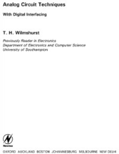 Ebook in inglese Analog Circuit Techniques Wilmshurst, T. H.