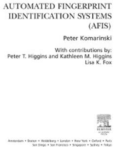 Ebook in inglese Automated Fingerprint Identification Systems (AFIS) Komarinski, Peter