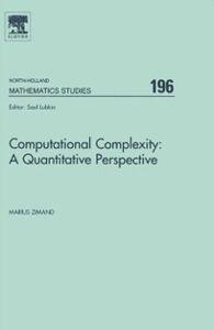 Ebook in inglese Computational Complexity: A Quantitative Perspective Zimand, Marius