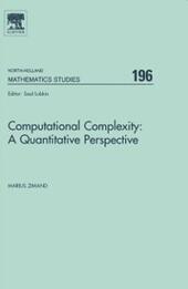 Computational Complexity: A Quantitative Perspective