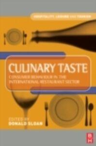 Foto Cover di Culinary Taste, Ebook inglese di Donald Sloan, edito da Elsevier Science