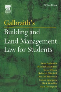 Ebook in inglese Galbraith's Building and Land Management Law for Students Davenport, Alan , Galbraith, Anne , Hewitson, Russell , Mitchell, Rebecca
