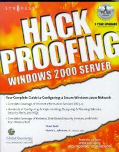 Foto Cover di Hack Proofing Windows 2000 Server, Ebook inglese di Syngress, edito da Elsevier Science