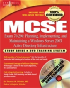 Ebook in inglese MCSE Planning, Implementing, and Maintaining a Microsoft Windows Server 2003 Active Directory Infrastructure (Exam 70-294) Syngres, yngress