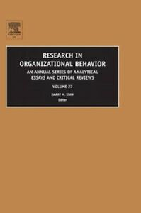 Foto Cover di Research in Organizational Behavior, Ebook inglese di  edito da Elsevier Science