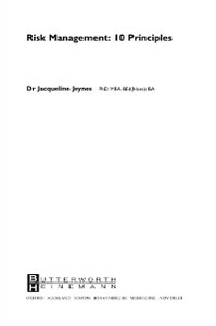 Ebook in inglese Risk Management: 10 Principles Jeynes, Jacqueline
