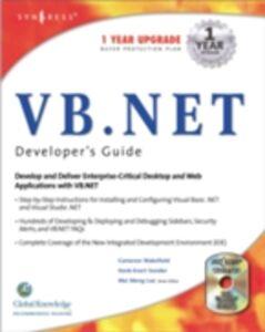 Foto Cover di VB.Net Web Developer's Guide, Ebook inglese di Syngress, edito da Elsevier Science