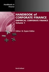Ebook in inglese Handbook of Corporate Finance -, -