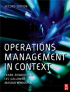 Ebook in inglese Operations Management in Context Azhashemi, Masoud , Galloway, Les , Rowbotham, Frank