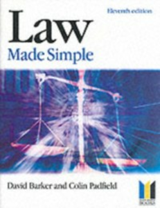 Ebook in inglese Law Made Simple Barker, D.