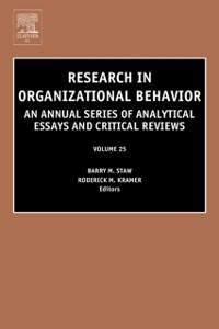 Ebook in inglese Research in Organizational Behavior -, -
