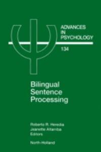 Foto Cover di Bilingual Sentence Processing, Ebook inglese di  edito da Elsevier Science
